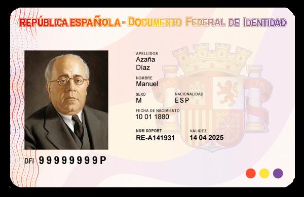 DNI Republicano Manuel Azaña Anverso