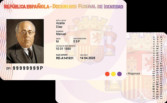 DNI Republicano Manuel Azaña a dos caras